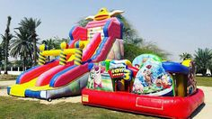 Customer Toy Story inflatable pictureWelcome custom your topic and size.Just do the good quaity. #inflatableslide #ToyStory #inflatablegame