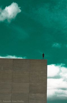 Architectural Photography, Wall Art, Blue Sky, Clouds, Sculpture photograph.