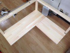 f:id:ll1a9o3ll:20140831173050j:plain Corner Desk, Furniture, Home Decor, Fun Diy Crafts, Pallets, Woodworking, Modern Furniture Design, Wood, Cooking