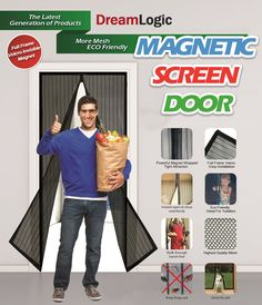 New Generation Premium Quality Magnetic Screen Door,Keep Bugs Out