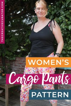 I've been desperate for a women's cargo pants pattern for sometime. Now I finally made this sewing pattern up - and it is gorgeous! I made them in a stretch cotton, and made some small adjustments because of how little of this fabric I had, but I love how summery and cute these cargo pants are!