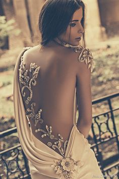 Top 50 Most Popular Bridal Collections on Wedding Inspirasi in 2015 Top 50 Most Popular Collections on Inspirasi julia kontogruni bridal 2015 wedding dress one shoulder sheer embroidered beaded back fit and flare gown back closeup 2 2015 Wedding Dresses, Wedding 2015, Wedding Attire, Wedding Gowns, Summer Wedding, Wedding Headpieces, Bridal 2015, Fit And Flare Wedding Dress, Mod Wedding