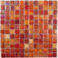 Pretty red backsplash tile