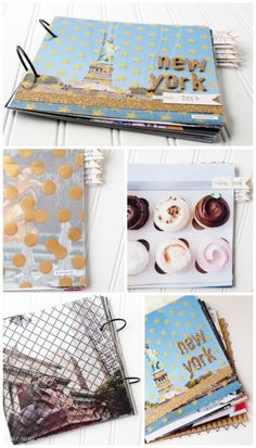 DIY Photo Album... you can put this together so quick! Uses 8x8 photos and some American Crafts Glitter tape to make it sparkly!