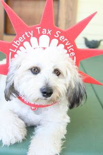 Pascal showing his support for liberty tax.
