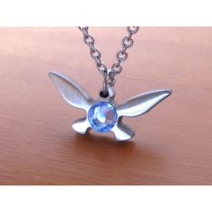 Zelda Navi Necklace - Stainless Steel ($29) ❤ liked on Polyvore featuring jewelry, necklaces, stainless steel necklace, stainless steel jewelry, stainless steel jewellery, navy necklace and navy blue jewelry