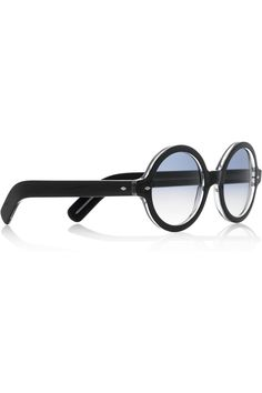 Cutler and Gross Round-frame acetate sunglasses