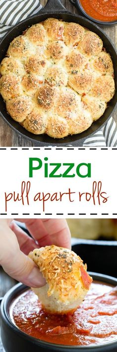 Pizza pull apart rolls make the perfect snack or dinner option. They are little, light fluffy pillows topped with Italian seasonings, cheese and pepperoni tucked in between.