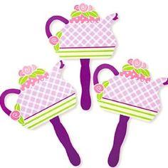 Amazon.com: Girly Tea Party Fans (1 dz): Toys & Games