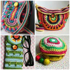 Crochet patterns, 4 crochet purse patterns sale, crochet mandala purse patterns…