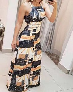 Shop Sexy Trending Maxi Dresses – Boutiquefeel offers the best women's fashion Maxi Dresses deals Dress Outfits, Casual Dresses, Fashion Dresses, Cute Outfits, Girl Fashion, Womens Fashion, How To Roll Sleeves, African Dress, Pattern Fashion