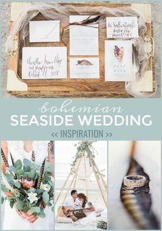 A Romantic Bohemian Seaside Wedding Shoot :: Snappening Wedding Dress Styles, Wedding Colors, Destination Wedding Inspiration, Seaside Wedding, Floral Arch, Plus Size Wedding, Wedding Planning Tips, Simple Weddings, Wedding Shoot