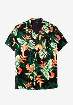 a3e04dc43271ed Big and Tall Tropical Caribbean Print Shirt by KS Island™