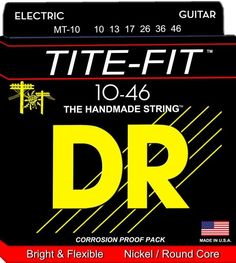 DR Tite-Fit Handmade Electric Guitar Strings Medium Gauge 10-46