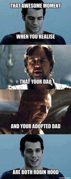 Superman's dads were both Robin Hood
