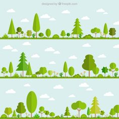 Image result for hill forest illustration