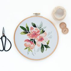 Hey, I found this really awesome Etsy listing at https://www.etsy.com/listing/578156633/peonies-modern-watercolor-flowers-cross