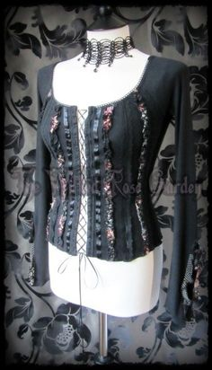 Romantic Rose Black Lace Floral Ruffle 8 Goth Victorian | THE WILTED ROSE GARDEN on eBay // UK Based // Worldwide Shipping Available