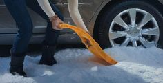 Tire-sized Emergency Shovel for Your Car | Cool Material