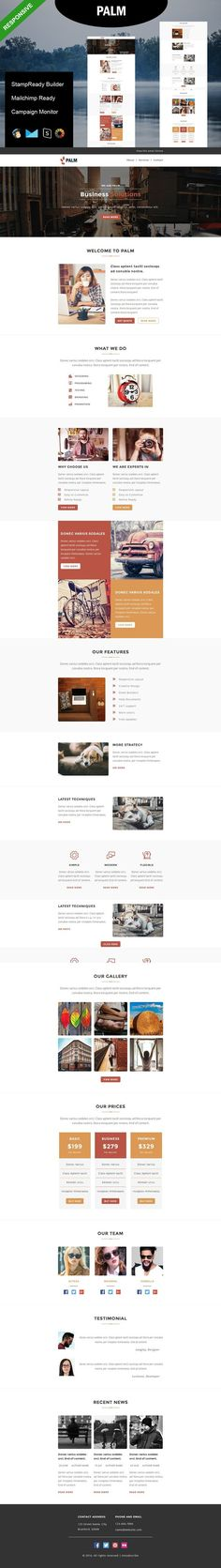 ROAR - Responsive Email Template Responsive email, Email - email newsletter template