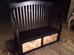 I made this bench out of a crib!