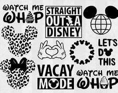 Free Disney SVG Cut Files Silhouette