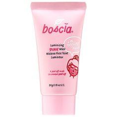 Shop boscia's Luminizing Pink Mask with Charcoal at Sephora. Face Mask For Blackheads, Acne Face Mask, Skin Mask, Charcoal Mask Benefits, Charcoal Mask Peel, Masque Peel Off, Best Peel Off Mask, Cleansing Mask, Homemade Face Masks