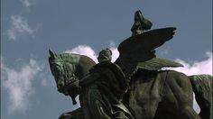 Kaiser-Wilhelm-Denkmal, Deutsches Eck, Koblenz, Reiterstatue, Nationaldenkmal, Wahrzeichen, Stadt, Tag, Stock Footage,