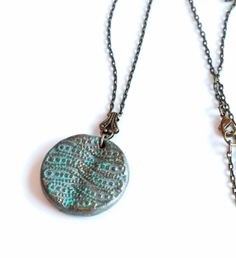 Medallion Pendant Necklace by malves1009 on Etsy, $15.00