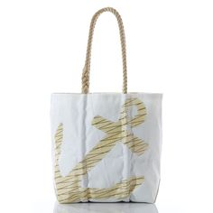 Medium Blonde Kevlar Anchor Tote handcrafted from recycled sails.