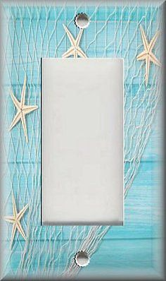Beach Home Decor Starfish On The Metal Light Switch Plate Cover In 2018 Luna Gallery Plates Pinterest