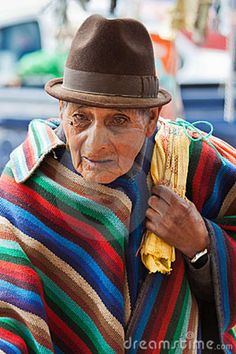 Photo about An elderly man in traditional Andean poncho and hat, Saquisili market, Ecuador. Image of andes, south, elderly - 23141222 Image Photography, Editorial Photography, Ecuador, Mexico Culture, Elderly Man, Hat For Man, Old Men, South America, Panama Hat