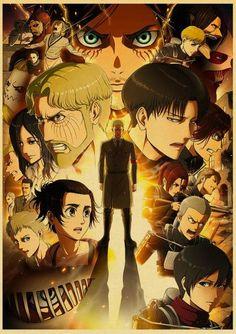 Attack on Titan Season 4 Poster - 30X21cm / Q057 9 / China