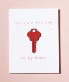 DIY Valentines Day Cards - You Hold The Key To My Heart - Easy Handmade Cards for Him and Her, Kids, Freinds and Teens - Funny, Romantic, Printable Ideas for Making A Unique Homemade Valentine Card - Step by Step Tutorials and Instructions for Making Cute Valentine's Day Gifts http://diyjoy.com/diy-valentines-day-cards