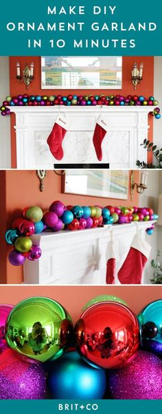 Make a DIY Ornament Garland in 10 Minutes or Less via Brit + Co