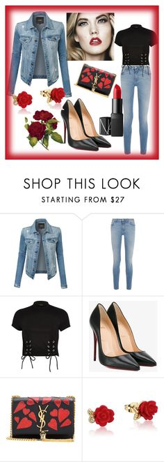 """Fashion"" by aziraziza ❤ liked on Polyvore featuring LE3NO, Givenchy, River Island, Christian Louboutin, Yves Saint Laurent, Disney, NARS Cosmetics, romwe, rosegal and shein"