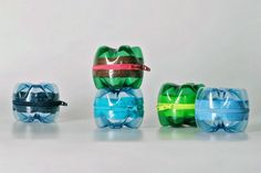 Monedero reciclado con botellas de plastico
