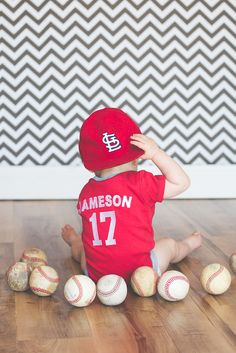 baseball baby pics , Baseball decor , baseball nursery , photography , baby picture ideas , Sarah Rogers photography , child sports personalized jersey onesie