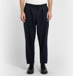MarniLoose-Fit Wide-Leg Wool-Twill Trousers £350