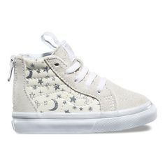 Shop Toddler Star Glitter Zip Shoes years) today at Vans. The official Vans online store. Little Girl Shoes, Baby Girl Shoes, Girls Shoes, Baby Vans, Vans Online, Stylish Little Girls, White Vans, Baby Sneakers, Childrens Shoes
