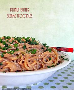 Cold Peanut Butter Sesame Noodles | Cinnamon Spice & Everything Nice