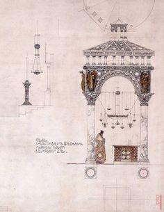 Эскизы архитектора В. А. Косякова к Морскому Собору в Кронштадте