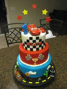 Cars Birthday Cakes for Boys   ... pixar cars this was for a 1 year old little boy disney pixar cars cake