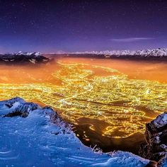 Grenoble by night by Joris Kiredjian on Nocturne, Winter Wonderland Theme, To Infinity And Beyond, France Travel, Video Photography, Nature Pictures, Night Time, Daydream, The Incredibles