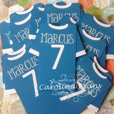 Hi Everyone    With the World Cup Final in only a few days time, these cute Soccer Shirt party invitations were a real hit for the birthday ...