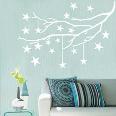 Moon Girl TRENDBOX PVC Removeable Decorative Art DIY Wall Decor Decal Sticker Paper for Home Bedroon Living Nursery Room Party Glow