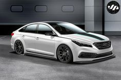 At SEMA next month John Pangilinan will present the Hyundai JP Edition Sonata. The tuned Sonata is equipped with a new bodykit, KW lower mounts, 19 inch wheels special logos. The car also features AEM air filter, MagnaFlow exhaust, Recaro sports seats Auto Hyundai, Hyundai Cars, Hyundai Sonata, Sonata Car, Sport Seats, Car Prices, Auto News, All Cars, Sexy Cars