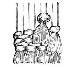 Opetushallituksen kuvia tekstiilityöhön (myös muita aineita), todella paljon eri aiheisiin liittyviä mm. saumat, omapelutarvikkeet Loom Weaving, Tapestry Weaving, Hand Weaving, Decor Crafts, Diy And Crafts, Weaving Wall Hanging, Tambour Embroidery, Felt Baby, Sewing Lessons