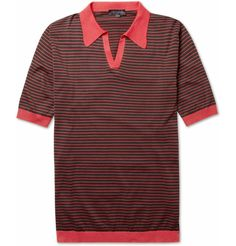 JOHN SMEDLEY  PERRY SEA ISLAND COTTON POLO SHIRT