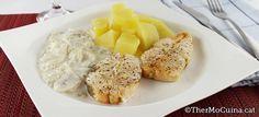 Salmó amb salsa de xampinyons i patates | Thermocuina.cat